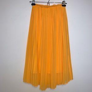 ZARA Trafaluc Pleated Midi Skirt